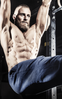 Crossfit and Pre Workout - man doing crunches