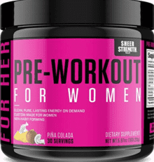 What is the best pre workout for women - sheer strength for women