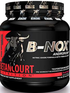 What is the Best Pre Workout Supplement - container of b-nox androrush pre workout