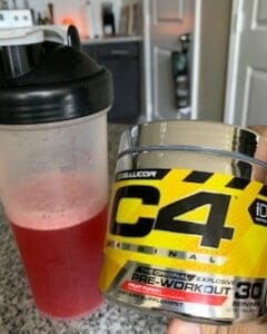 What Is The Best BCAA's Supplement - shaker with C4 pre workout