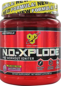What is the Best Pre Workout Supplement - container of no xplode pre workout