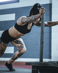 Crossfit and Pre Workout - woman doing crossfit