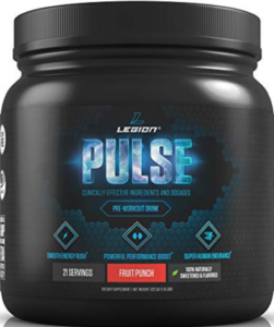 What's The Best Pre Workout Drink - container of legion pulse pre workout