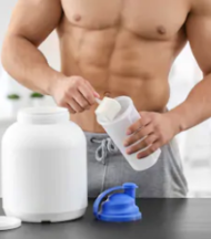 What Are The Benefits From A Protein Powder - man taking protein powder