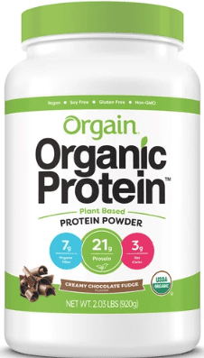 What Is The Best Vegan Protein Powder For Weight Loss - Orgain organic protein powder container