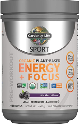 What is Organic Vegan Pre Workout - Garden of life organic pre workout energy