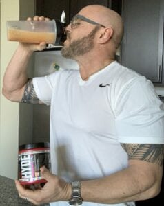 What Is In A Pre Workout supplement Powder - me drinking a pre workout