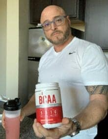 What Is a Intra Workout - me holding my bcaa