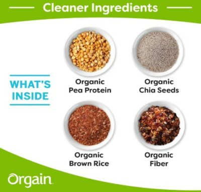 Orgain protein shake reviews - orgain ingredient pictures