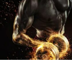 Pre workout fat burner - bicep curl with fire