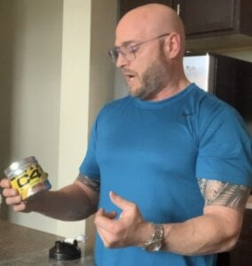 The Best Muscle Growth Supplements - me with a container of C4
