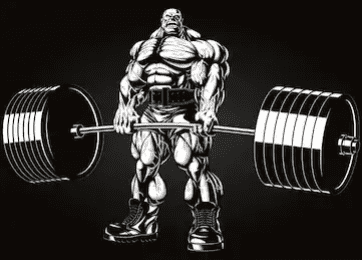 The Best Supplements For Muscle Growth - animated deadlift