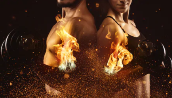 pre workout fat burner - man and woman on fire