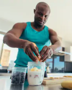 Best Protein Powder And Weight Loss - man making protein shake