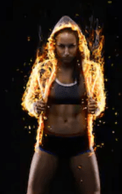 pre workout fat burner - woman on fire