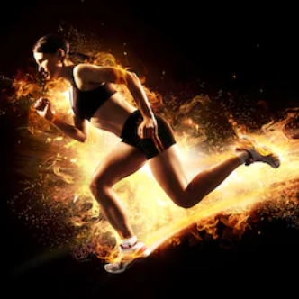 What Does Pre Workout Do For You - woman running on fire