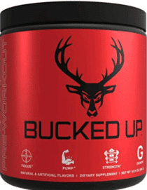 Bucked Up Pre Workout Review - container of Bucked Up