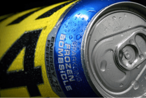 C4 Energy Drink Ingredients - close up of can