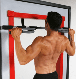 What Is The Best Pull Up Bar For The Doorway - Pro Fit Iron Gym Total Upper Body Workout Bar with man using