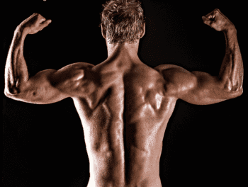 How and When To Take Protein Powder - man flexing back