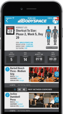 Bodybuilding.com Workouts And Reviews - Bodyspace phone app