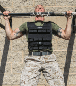 Best Weight Vests For Men - man doing pullup with weight vest