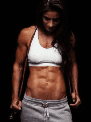 What Is The Best Low Calorie Protein Powder - woman with muscular stomach
