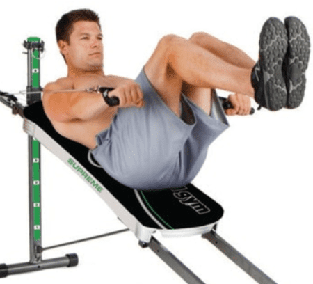 There are different resistance levels to keep your workouts challenging. - Man using Total Gym Supreme