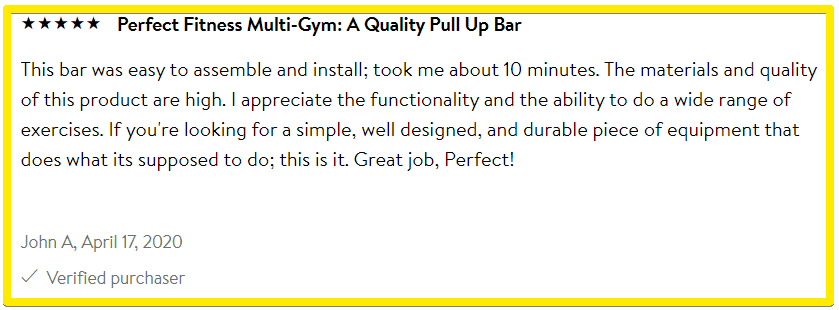 Perfect fitness multi gym pulll up bar Product review - Walmart