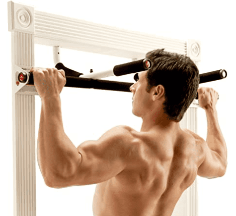 What Is The Best Home Workout Routine - man using perfect fitness wide grip pull up