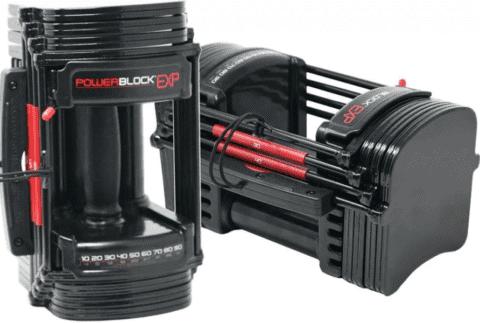 best dumbbell sets for a home gym - Powerblock adjustable dumbbells