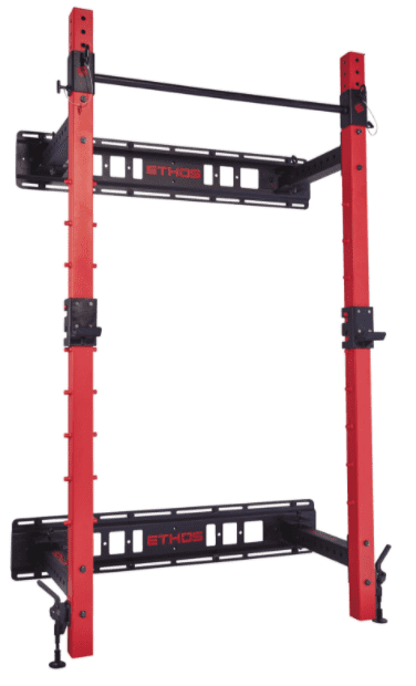 Best Squat Rack for a Home Gym - Ethos Folding Wall Rack