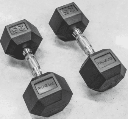 Fitness Gear Hex Dumbbell Review - Rogue rubber hex dumbbells