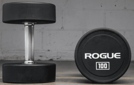 best dumbbell sets for a home gym - Rogue urethane dumbell