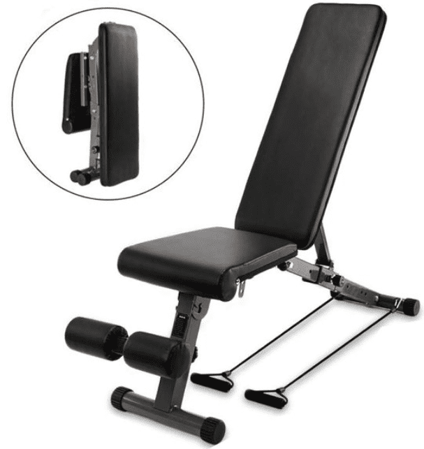 Best Foldable Workout Benches - Zimtown Folding Weight Bench, Adjustable Incline Decline Exercise Bench, for Body Workout, Strengthen Muscles