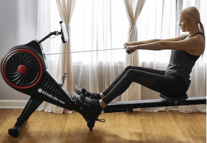 Echelon Rowing Machine Review - Echelon rowing machine with lady rower