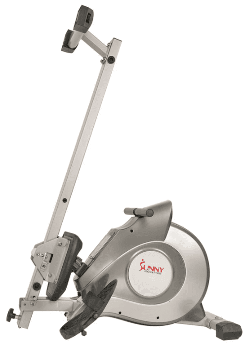 Sunny Health Fitness Rower Review - Sunny health fitness rower folded up