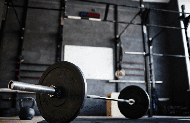 Small Home Gym Ideas - Barbell in a home gym