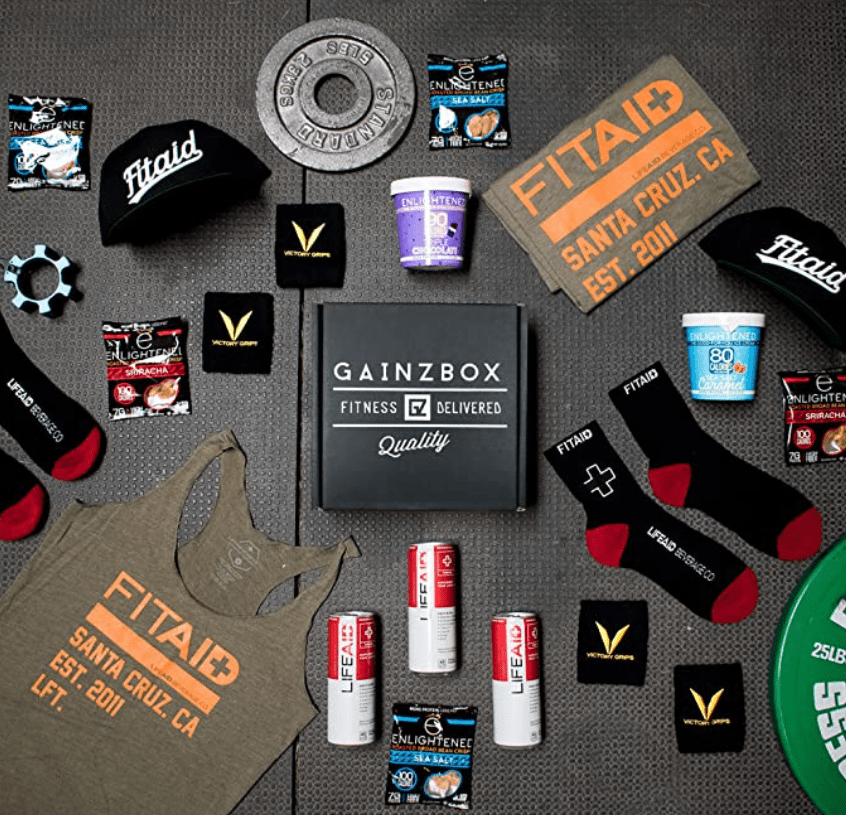 Best Monthly Subscription Boxes for Fitness - Gainz Box contents