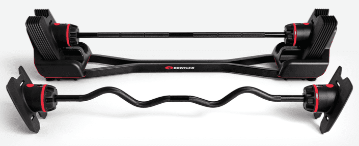 Bowflex SelectTech 2080 Barbell with Curl Bar front view