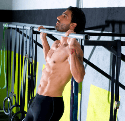 Crossfit workout routines - Man doing Crossfit pull up