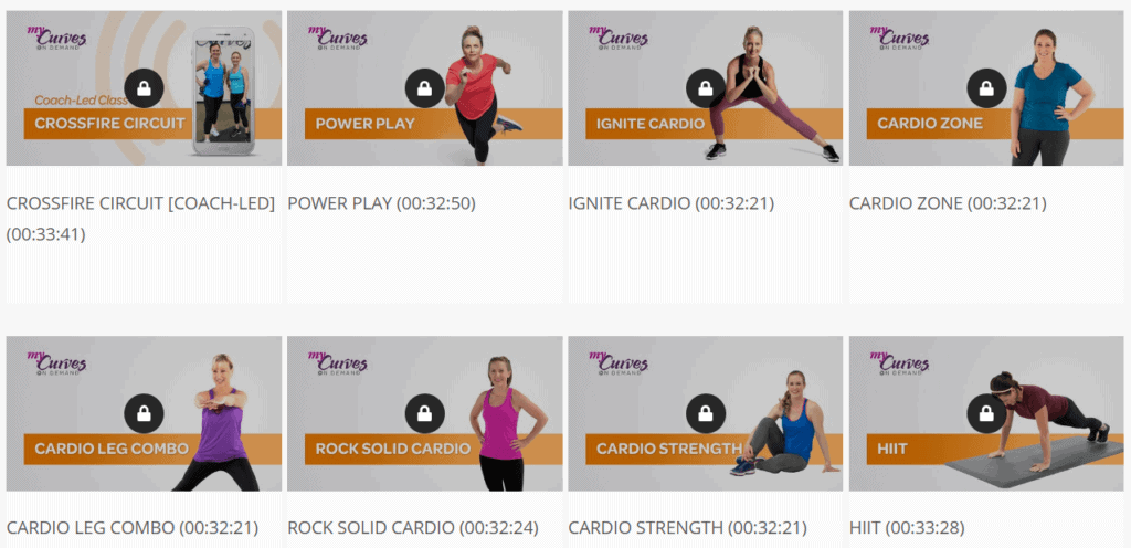 MyCurves On Demand review-MyCurves On Demand Cardio Workouts