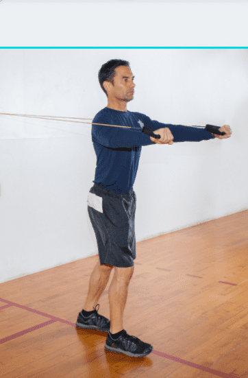 Best Exercise Bands Workout - man doing resistance band chest press