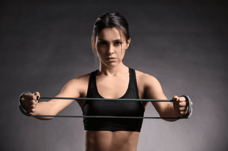 Best Exercise Bands Workout  - woman doing resistance band exercises