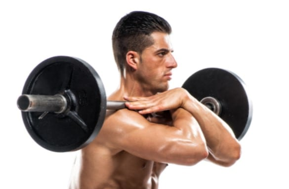 How to do a front squat - Front squat cross grip