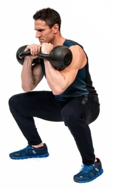 How to do a front squat - Front squat with kettlebell
