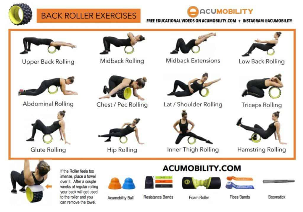 Acumobility back roller exercises