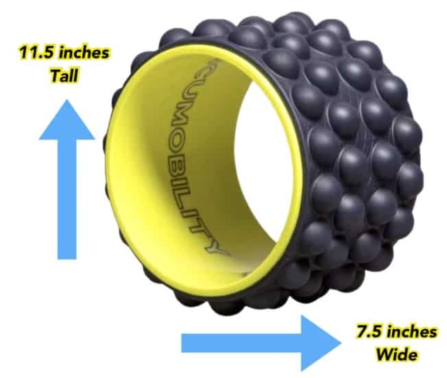 Acumobility ultimate back roller dimensions